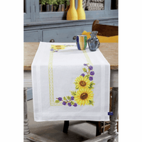 Embroidery Kit: Runner: Sunflowers By Vervcao
