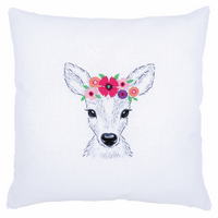 Embroidery Kit: Deer with Flowers By Vervcao