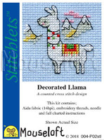 Decorated Llama Cross Stitch Kit by Mouse loft