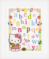 Counted Cross Stitch: Hello Kitty - Learning ABC by Vervaco