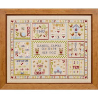 123 Count with Me Birth cross stitch by Historical Sampler Company