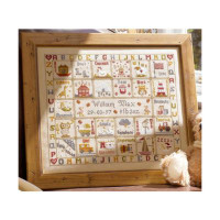 A is for Ark Birth cross stitch by Historical Sampler Company