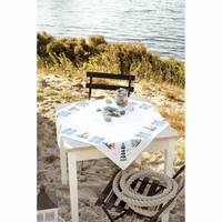 Counted Cross Stitch Kit: Tablecloth: Beach By Vervaco