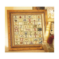 A-Z Birth cross stitch By Historical Sampler Company