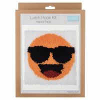 Latch Hook Kit: Happy Face By Trimmit