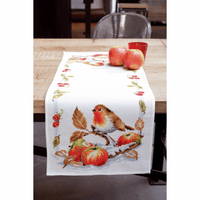 Counted Cross Stitch Kit: Runner: Robin  By Vervaco