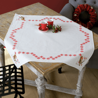 Counted Cross Stitch Kit: Tablecloth: Robin  By Vervaco