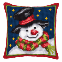 Cross Stitch Kit: Cushion: Snowman By Vervaco
