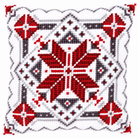 Cross Stitch Kit: Cushion: Snow Crystal II By Vervaco