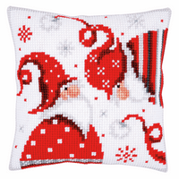 Cross Stitch Kit: Cushion: Christmas Gnomes I  By Vervaco