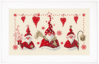 Counted Cross Stitch Kit: Cheerful Santas  By Vervaco