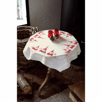 Embroidery Kit: Tablecloth: Christmas Gnomes By Vervaco