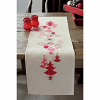 Embroidery Kit: Runner: Christmas Decs By Vervaco