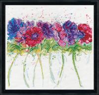Modern Anemones Cross Stitch By Design Works