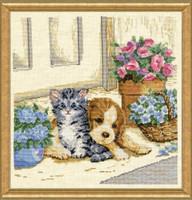 Kitten and Puppy Cross Stitch By Design works