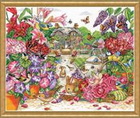 Full Bloom Garden Cross Stitch By Solocraft