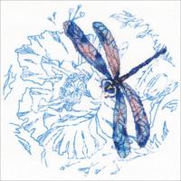 Dance Of Dragonflies-Blue Cross stitch kit by RTO