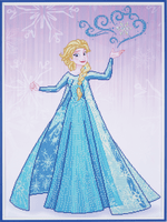 Diamond Painting Kit: Disney: Ice Magic Elsa By Vervaco