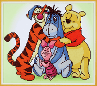 Diamond Painting Kit: Disney: Pooh with Friends By Vervaco
