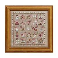 Advent Calendar cross stitch By Historical Sampler Company