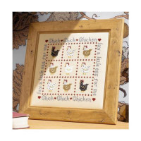 Chick Chick Chicken Cross Stich By Historical Sampler Company