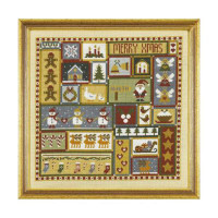 Christmas Patchwork Cross Stitch By Historical Sampler Company