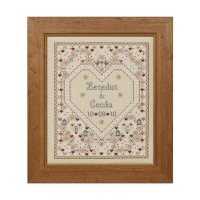Confetti Wedding Sampler Cross Stitch By Historical Sampler Company
