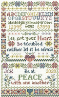 Let not Your heart Cross Stitch chart by Sandra Cozzolino