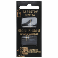 Pony Gold plated Size 26 Needles Pack of 4