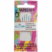 Hand Sewing Needles: Colour-Coded Eye: Tapestry 26