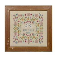 Flower Home Sweet Home Cross Stitch By Historical Sampler Company