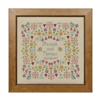 Flower Wedding Cross Stitch By Historical Sampler Company