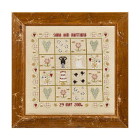 Four Hearts Wedding Sampler By Historical Sampler Company