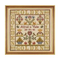 Golden Anniversary Sampler Cross Stitch By Historical Sampler Company