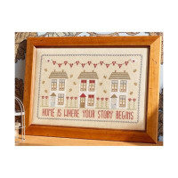 Home Is Where Your Story Begins Cross Stitch By Historical Sampler Company