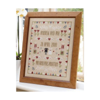 Horseshoe Wedding Sampler Cross Stitch By Historical Sampler Company