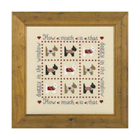 How Much Is That Doggy Cross Stitch By Historical Sampler Company