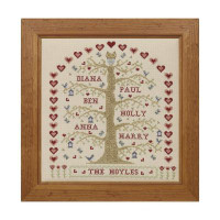 My Family Tree Cross Stitch By Historical Sampler Company