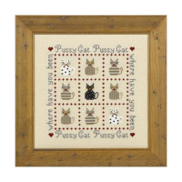 Pussy Cat Cross Stitch By Historical Sampler Company