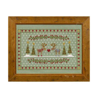 Reindeer's In Love Cross Stitch By Historical Sampler Company