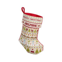 Snowman Christmas Stocking Cross Stitch By Historical Sampler Company