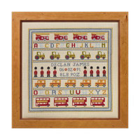 Soldier Soldier Birth Sampler Cross Stitch By Historical Sampler Company