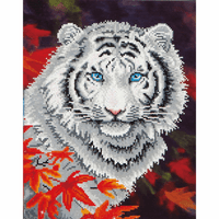 White Tiger in Autumn by Diamond dotz