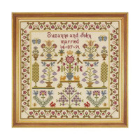 Wedding Pot Cross Stitch By Historical Sampler Company