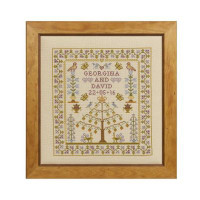 Wedding Tree Of Life Cross Stitch By Historical Sampler Company