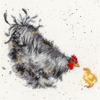 MOTHER HEN cross stitch kit by Bothy Threads