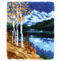 Latch Hook Kit: Rug: Birches By Vervaco