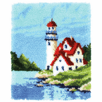 Latch Hook Kit: Rug: Lighthouse By Vervaco