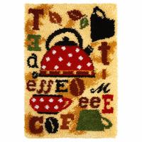 Latch Hook Kit: Rug: Tea & Coffee By Orchidea