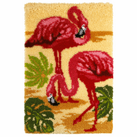 Latch Hook Kit: Rug: Flamingo By Orchidea